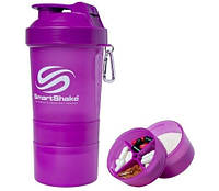 Шейкер SmartShake Neon/Purple 400 ml + 2 контейнера для капсул и порошка