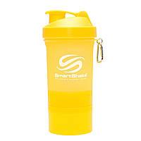 Шейкер SmartShake Neon/Yellow 400 ml + 2 контейнера для капсул и порошка