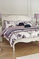 Кровать Изабель двуспальная из дуба белая 208х163 см