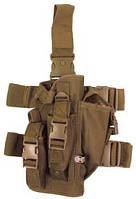 Пистолетная кабура  набедренная с доп. подсумками, coyote tan