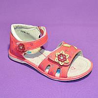 Босоножки летние на липучке для девочки, розовый цвет. Размеры: 26,29
