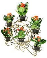 Кованая подставка для фиалок Фиальница 6 горшков для цветов