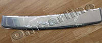 Накладка на задний бампер skoda Rapid 2012 + (шкода Рапид), с логотипом и загибом. нерж.