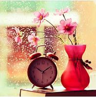Картина для рисования камнями стразами Diamond painting Алмазная вышивка алмазами Цветок в вазе