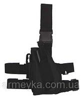Пистолетная кабура  набедренная левосторонняя, черная, Германия MFH