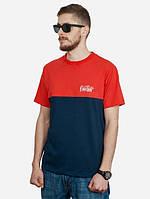 Летняя мужская футболка модная Urban Planet red-black