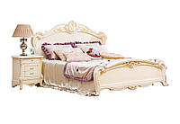 Кровать деревянная молочно-белая
