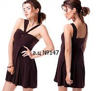 Платье мини без рукавов с красивым декольте 147