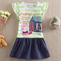 """Платье детское летнее Рерра pig домик (м/ф """"Свинка Пеппа"""") для девочки / 92см (1.5-2 года)"""