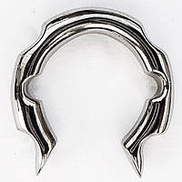 """Украшение для пирсинга ушей (хард фигурный """"подкова"""") из медицинской стали."""