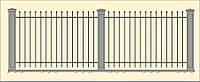 Сварной забор высота 1530 (СВ-02), бесплатная доставка по Украине
