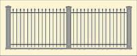 Сварной забор высота 1600 (СВ-00), бесплатная доставка по Украине