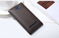 Чехол Nillkin для HTC 8S коричневый (+пленка)