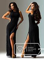 Вечернее черное платье на торжество с оригинальной спиной