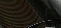 Пленка под карбон 2D (Глянцевый) черно-золотой КЕВЛАР 1.27м