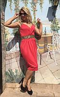 Платье нарядное с украшением на поясе  03054