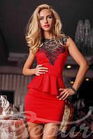 Модное стильное облегающее платье без рукавов с открытой спиной французский трикотаж стрейч