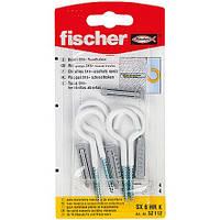 Fischer SX 6 x 30 HR K - Дюбель SX 6 с круглым крюком белым, покрытым нейлоном