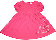 Красивое платье для девочки, розовое, ТМ Бемби, рост 80 см, 86 см, 98 см