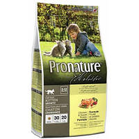 Сухой корм для котят Pronature Holistic (Пронатюр Холистик) с курицей и бататом 5.44кг.
