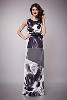 Платье женское шелк макси