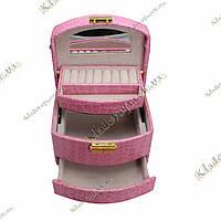 Шкатулка-органайзер для украшений (розовая)