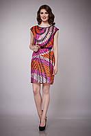 Платье женское шелковое коралловое