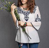 Купить нарядную блузку с вышивкой