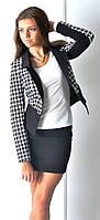 Женский жакет с карманами на подкладке «Лапочка»