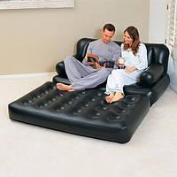 Велюр-диван 75038 CIS раскладной, 188-152-64 см с электрическим насосом 220 В