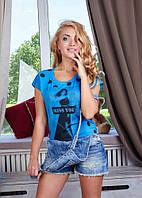 Летняя футболка в горошек Ar5950 р.44-46