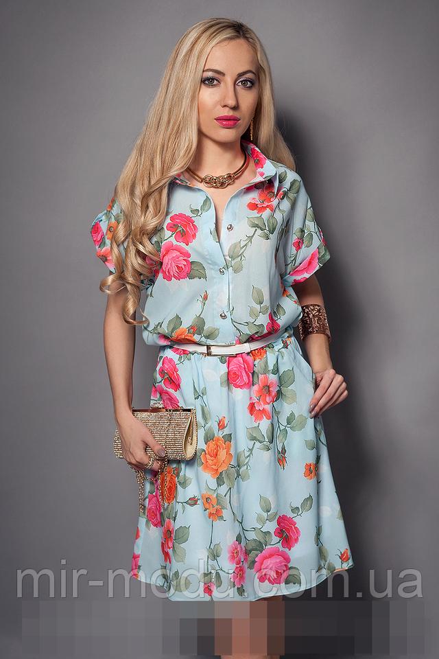 Фото платья из шифона с принтом