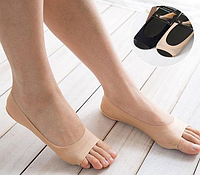 Мягкие капроновые носочки с защитой от натирания новыми туфлями