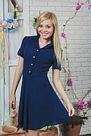 Платье летнее короткое темно-синее, фото 1