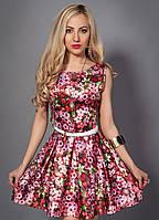 Стильное женское платье с пояском
