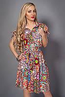 Летнее нарядное платье-рубашка от производителя
