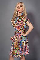 Молодежное летнее платье из штапеля