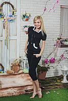 Костюм женский с бриджами  черный, фото 1