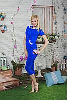 Костюм женский с бриджами синий, фото 1