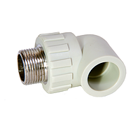 Угольник PPR с НР 90*/20х3/4 180/18 GRE Aqua Pipe
