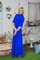 Платье летнее длинное электрик, фото 1