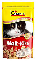 Витамины для котов и кошек Gimpet Malt-Kiss для выведение шерсти, 65 шт