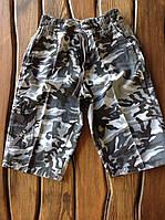 Модные бриджи для мальчиков Комуфляж серый