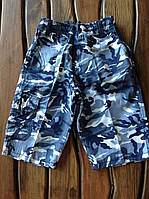 Модные шорты для мальчиков Камуфляж джинсовый