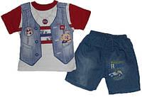 Футболка и джинсовые шорты для мальчика 2 лет