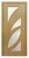 Дверь межкомнатная Модель ПАЛЬМИРА (остеклённая), дуб 18