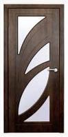 Дверь межкомнатная Модель ПАЛЬМИРА (остеклённая), тик