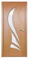 Дверь межкомнатная Модель КОРОНА (остеклённая), орех светлый