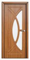 Дверь межкомнатная Модель ФАНТАЗИЯ (остеклённая), ольха
