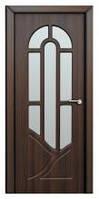 Дверь межкомнатная Модель АРКАДИЯ (остеклённая), шоколадный орех